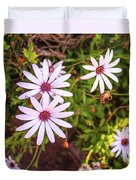 Beautiful African White Daisies Duvet Cover