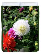 Beautiful And Fresh Dahlias In The Butchrt  Gardens,vancouver Island 1. Duvet Cover