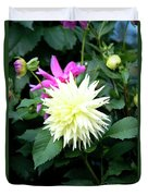 Beautiful And Fresh Dahlias In The Butchrt  Gardens,vancouver Island 2. Duvet Cover