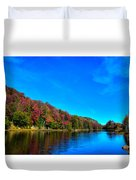 Beautiful Autumn Reflections On Bald Mountain Pond Duvet Cover