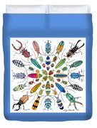 Beautiful Beetles Duvet Cover