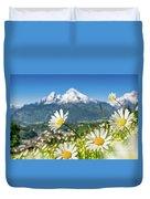 Beautiful Blooming Flower Panorama Duvet Cover