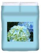 Beautiful Blue Hydrangea Floral Art Prints Creamy White Pastel Duvet Cover
