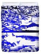 Beautiful Blue Pop Art Scene Duvet Cover