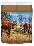 Beautiful Bovine With Side Eye Duvet Cover