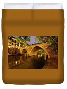 Beautiful Bridge Weesbrug Over The Old Canal In Utrecht At Dusk 220 Duvet Cover