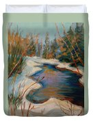 Beautiful Brook In Winter Duvet Cover