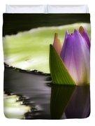 Beautiful Bud Reflection Duvet Cover