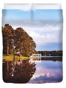 Beautiful Bunn Lake - Zebulon, North Carolina Duvet Cover