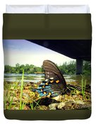 Beautiful Butterfly At The River II Duvet Cover