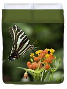 Beautiful Butterfly Waving Duvet Cover