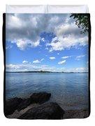 Beautiful Calm Ocean Water's In Casco Bay Maine Duvet Cover