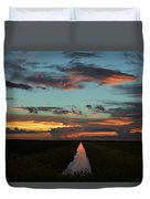 Beautiful Canal Sunset In Florida Duvet Cover