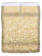 Beautiful Champagne Gold Glitter Sparkles Duvet Cover
