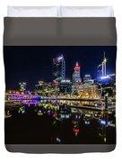 Beautiful Cityscape At Perth's Elizabeth Quay  Duvet Cover