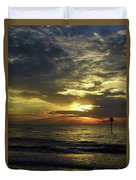 Beautiful Clearwater Sunset Duvet Cover