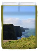 Beautiful Cliff's Of Moher In Liscannor Ireland Duvet Cover