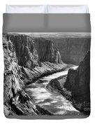 Beautiful Colorado River Page Arizona Blk Wht  Duvet Cover