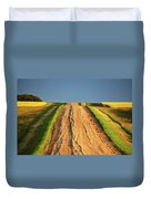 Beautiful Colors Along A Saskatchewan Country Road Duvet Cover