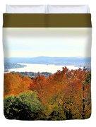 Beautiful Colors Of Autumn Landscape 2 Duvet Cover