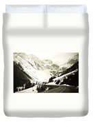 Beautiful Curving Drive Through The Mountains Duvet Cover