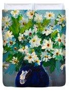 Beautiful Daisies Duvet Cover by Patricia Awapara