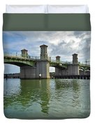 Beautiful Day At The Bridge Of Lions Duvet Cover