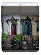 Beautiful Doors On Bull Street Duvet Cover