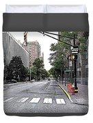 Beautiful Downtown Hoboken  Duvet Cover