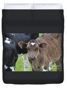 Beautiful Face Of A Brown Calf Duvet Cover