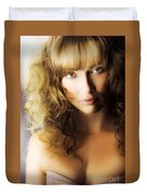 Beautiful Fashion Model Duvet Cover by Jorgo Photography - Wall Art Gallery