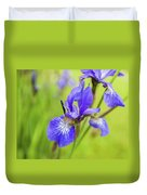 Beautiful Flower Iris Duvet Cover