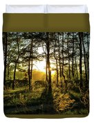 Beautiful Forest At Sunrise Duvet Cover