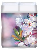 Beautiful Fruit Tree Blooming Duvet Cover