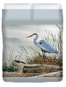 Beautiful Heron Shore Duvet Cover