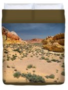 Beautiful Hiking In The Valley Of Fire Duvet Cover
