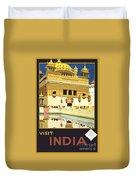 Beautiful India Poster Duvet Cover