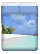Beautiful Island From Maldives Duvet Cover