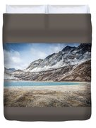 Beautiful Lake And Snow Mountain Duvet Cover