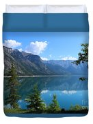 Beautiful Lake Minnewanka Duvet Cover