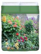 Beautiful Lot Of Dahlias,butchart Gardens,victoria,canada Duvet Cover