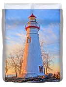 Beautiful Marblehead Lighthouse Duvet Cover