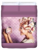 Beautiful Model With Fresh Makeup And Hairstyle Duvet Cover by Jorgo Photography - Wall Art Gallery