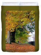 Beautiful Morning Walk In Autumn Duvet Cover