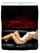 Beautiful Naked Woman On A Couch Duvet Cover