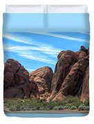 Beautiful Nature Landscape Valley Of Fire  Duvet Cover