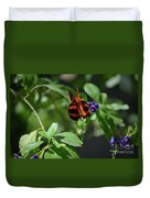 Beautiful Oak Tiger Butterfly On Purple Flowers Duvet Cover