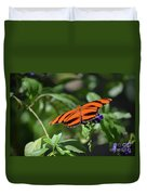 Beautiful Orange Oak Tiger Butterfly In Nature Duvet Cover