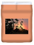 Beautiful Park Sunset View Trees Duvet Cover