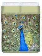 Beautiful Peacock Walking Around Duvet Cover